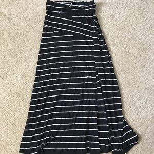 Dresses & Skirts - Black and White striped maxi skirt